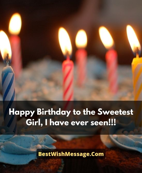 Cute Birthday Wishes for Female Crush