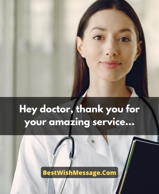 Appreciation Wishes to Doctors